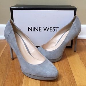 NINE WEST 'Quarless' Suede Stiletto Platform Pumps